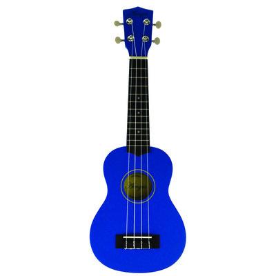 sopraan ukelele basswood blauw